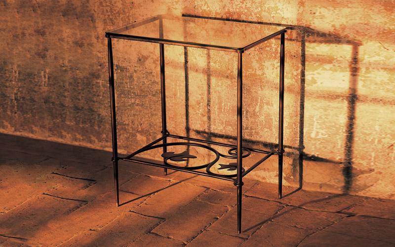 Tavolini In Vetro E Ferro Battuto : Tavolini ferro battuto e cristallo letti in ferro battuto