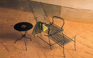 Chaise Longue in ferro