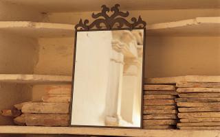 Specchiera in ferro battuto