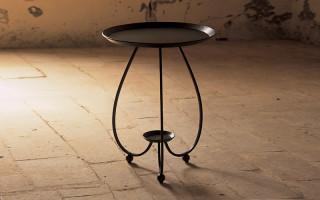 tavolino in ferro battuto rotondo