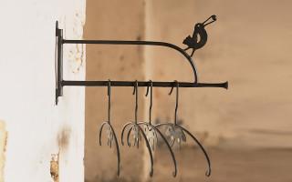 portagrucce in ferro battuto