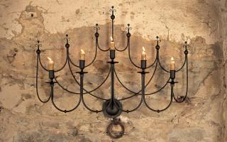 lampadario in ferro regno