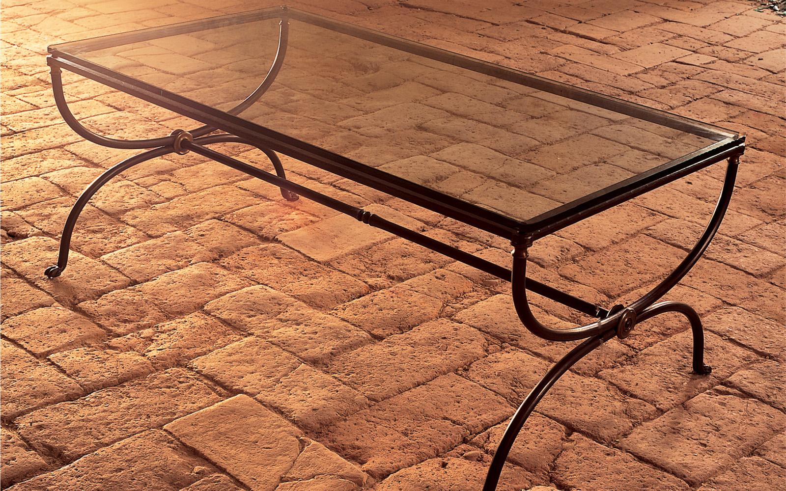 tavolo da fumo ferro battuto - Letti in ferro battuto CAPORALI \