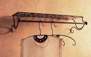 Portacappelli e appendiabiti in ferro
