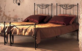 letto singolo in ferro