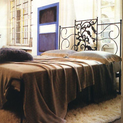 Letto matrimoniale con testata originale letti in ferro battuto caporali il ferro soffiato - Testata letto matrimoniale ferro battuto ...